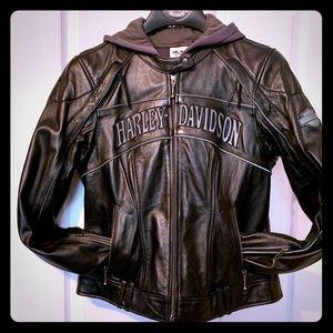 Harley Davidson 3 in 1 Leather Jacket.